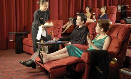 Cinema style; GV Gold Class Cinema in Singapore