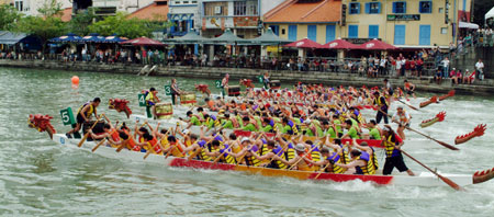 Dragonboating in Singapore