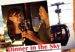 Dinner in the sky – Sentosa Sky Car Dining