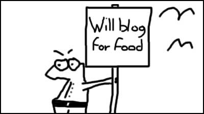 Will blog for food