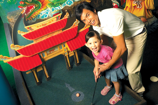 Family fun is a hole in one at the Lilliputt Minature Golf course